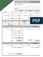 Final Job Card Format
