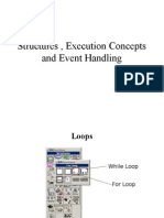 Structures, ESDDAxecution Concepts and Event Handling