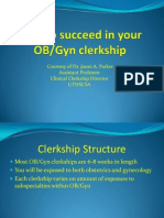 How to Succeed in the OB Gyn Clerkship