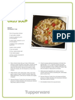 Chicken Orzo Soup - Tupperware Recipe