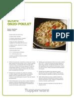 Soupe Poulet et Orzo de Tupperware