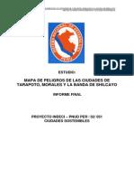 Mapa de peligros de las ciudades de Tarapoto, Morales y la banda de shilcayo