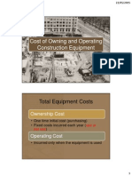 Cost of Owning and Operating Construction Equipment