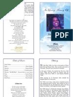 Julia Mae Tubbs Funeral Program