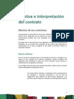Derecho Privado III_Lectura2 - EFECTOS E INTERPRETACIÓN DE LOS CONTRATOS