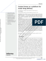 Contact Lens Drug Delivery
