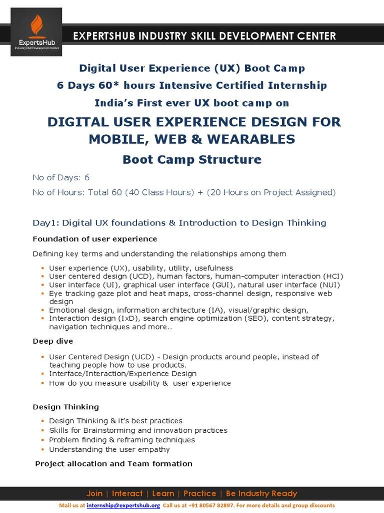 Expertshub_Digital UX Design Bootcamp | Usability | User