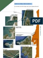 Os acidentes do litoral - vista de satélite (10.º)