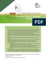Zika Virus French Polynesia Rapid Risk Assessment