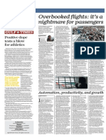 Overbooked Flights, It's a Nightmare for Passengers - Gulf Times 27th August 2015