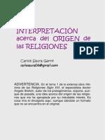 Una Interpretación Acerca Del Origen de Las Religiones. Carlos Saura Garre. PDF