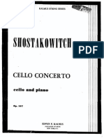 Cello Concerto Cello and Piano Op. 107