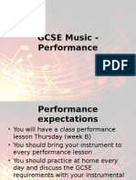 GCSE Music - Performance