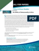 Politics Homosexuality Africa