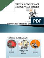 Prinsip Teknik Konservasi Energi Pada Boiler