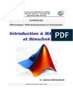 Polycopié Initiation à MATLAB