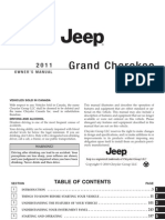 JEEP 2011 Grand Cherokee WK2 Owners Manual