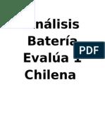 Analisis Bateria EVALUA-1 Chilena