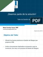 PMI - Taller de Riesgos 092012 v2_0
