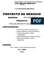 PROYECTO DE NEGOCIOS CON MERMELADA DE GARBANZO