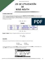 Ejemplos de Utilización de Bode-Routh