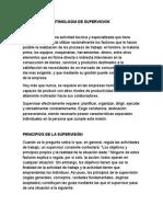 Etimologia de Supervicion
