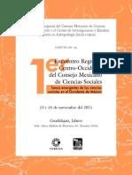 Convocatoria Encuentro Regional Centro-Occidente Del Consejo Mexicano de Ciencias Sociales Copia
