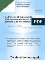 4. Sx Compartimental y Abdomen Agudo Itza