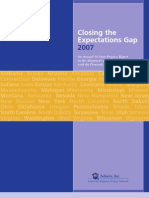 Closing the Expectations Gap 2007