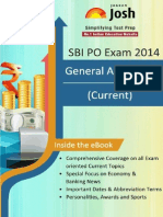 Sbi Po Exam 2014 General Awareness Current
