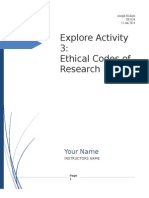 Explore Activity 3_ Ethical Codes of Research