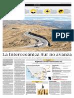 El Comercio 11-Set-2015, Interoceanica Sur, No Cumple Meta Que Justifico Su Construccion