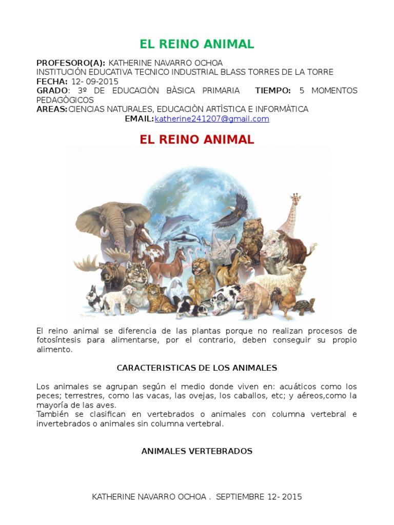 Parcial El Reino Animal