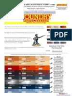Wargames Foundry American Civil War Pait Range
