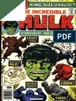The Incredible Hulk Annual 5 Vol 1