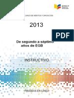 Instructivo 2a7 EGB 2013