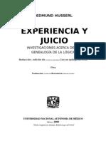 HUSSERL_Experiencia y Juicio