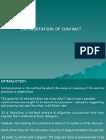 Interpretation of Contract