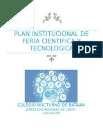 Plan Institucional de Fería y Tecnología