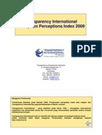 Indeks persepsi korupsi 2009