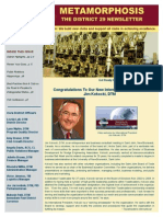 District 29 Newsletter Publication September 2015