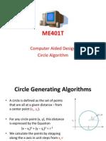 ME401T CAD Circle Algorithm