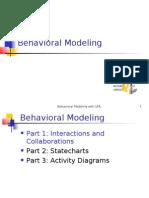 Behavioral Modeling with UML