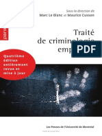 Traité de Criminologie Empirique LeBlanc