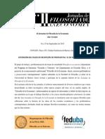 II Jornada de Filosofía de La Economía - 2da Circular