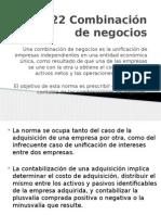 NIC 22 Combinación de Negocios