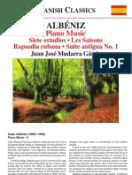 ALBÉNIZ, I.- Piano Music, Vol. 5 (Mudarra Gámiz) - 7 Studies in the Natural Major Keys
