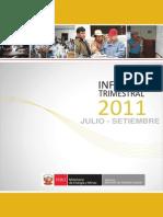 Informe Trimestral de Julio_Setiembre 2011 Mem