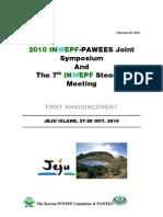 1st Announcement of INWEPF-PAWEES Meetings