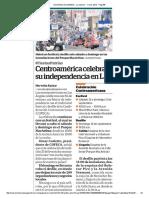 Centroamérica celebrará su indepedencia en LA